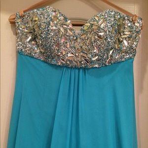 Jeweled PROM DRESS Blue | Size 4